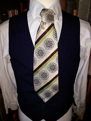 Exceptional Vintage COMMODORE 70TS 5cm KIPPER Floral tie GLAMROCK SPIV RETRO.