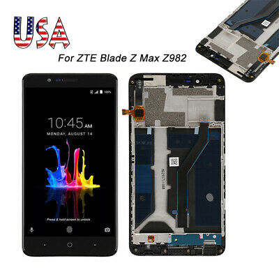 """Replacement LCD Screen Touch Digitizer For ZTE Blade Z Max Z982 6.0"""" +Frame A+++"""