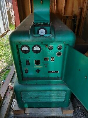 1955 ELECTRIC ONAN 12 5kv 1-3 phase 4C Gas standby generator with tank
