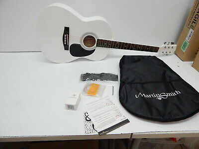 Martin Smith W-101-WHT-PK 6 Acoustic Guitar SuperKit, Natural, White BLEMISHES