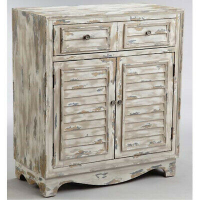 Stein World 13612 Rufton Cabinet White and Grey with Brown and Antique Bronze