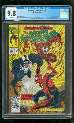 Cgc 9.8 Amazing Spider-Man 362 Marvel 5/1992 2Nd Appearance Of Carnage Venom