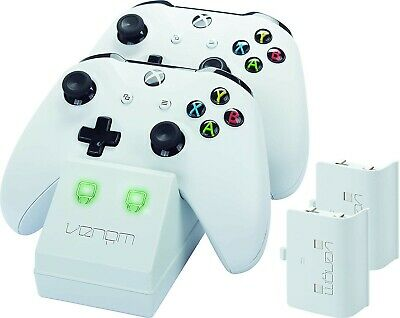 Venom Xbox One Twin Docking Station with 2 Rechargeable Batteries - White