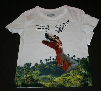 New OshKosh Boys 2T Top T-Rex Dinosaur Meteor Shooting Quick!  Make a Wish Tee