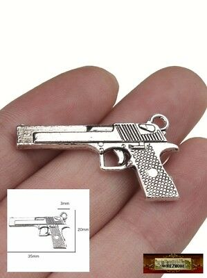 M01298 MOREZMORE Miniature Gun Pistol Revolver Weapon Mini Prop 1:6 Scale