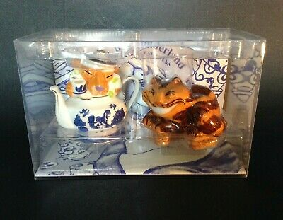 Salt Pepper Shakers - Cardew - Alice in Wonderland Cheshire Cat Dormouse Willow