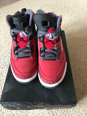 separation shoes 08382 df295 AIR JORDAN SPIZIKE - Gym Red Black - Size 9.5 - Pre Owned with Box