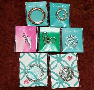 Origami Owl Lg Med Swarovski Crystal Twist Locket Face (Choice) AUTHENTIC!!