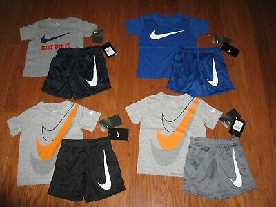 Nike 2-Pc T-shirt & Shorts Outfit  Set Boys 2T/3T/4T NWT