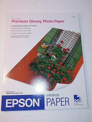 Epson Premium Photo Paper 68 lbs. High-Gloss 11 x 14 20 Sheets/Pack S041466 Styl