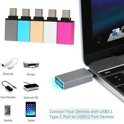 """5Gbps USB-C 3.1 Type C Male to USB 3.0 Female Adapter for MacBook 12"""" Nokia N1"""