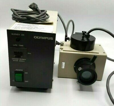 Olympus Microscope BH2-RFL-T3 Mercury HBO Power Supply w/ Halogen Lamp Source