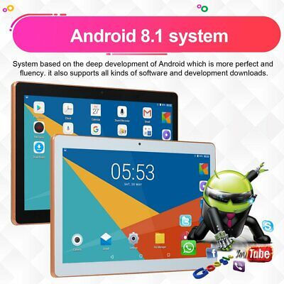 "10.1"" for Android 8.1 Tablet PC 4GB+64GB Ten-Core WIFI tablet 13.0MP Camera YP"
