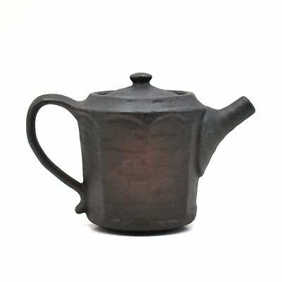 Japanese Traditional Handcrafted Style Bizen Yaki Brown Teapot