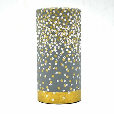 Japanese Style Midoriiro Green Washi Paper Loose Leaf Metal Tea Tin Canister