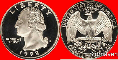 1989-S Clad Proof Washington Quarter Mirror Deep Cameo Combined Shipping