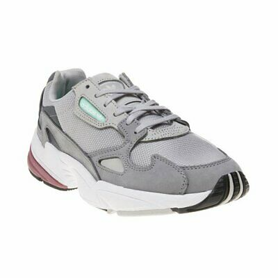new styles aaa5c 4a474 New Womens adidas Grey Falcon Textile Trainers Chunky Lace Up