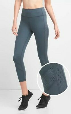 21fc190dff9f56 GAPFIT GFAST COTTON Blend Crop Leggings Heathered Blue Small Women's ...