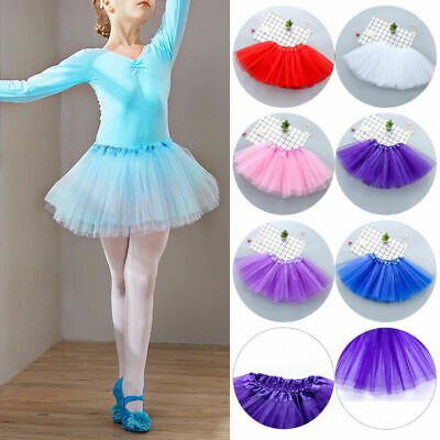 Kids Tutu Tulle Skirt Women Adult Lady Girls Fancy Dress Up Party Ballet Dancing
