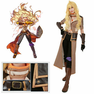 eabb68d26 Yang Xiao Long Cosplay Costume RWBY Volume 4 Outfit Halloween US Shipping