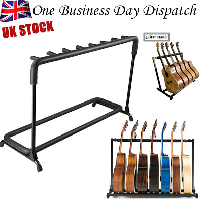 7 Holder Folding Guitar Floor Stand Holder Universal Fits Acoustic Electric Bass