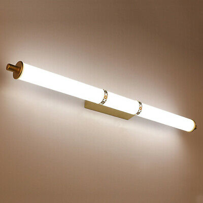 LED Wall Sconce Light Tube Makeup Mirror-front Lamp Acrylic Vanity Lighting NEW