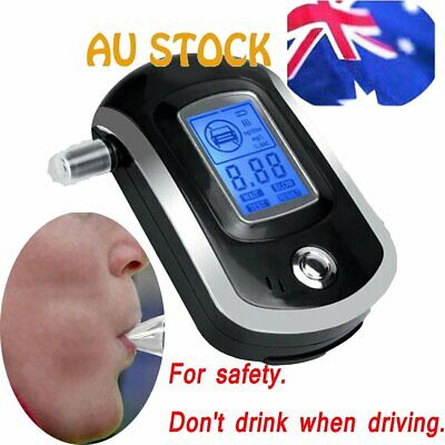 Portable Digital Alcohol Breathalyser Breath Tester Breathtester LCD Detector AU