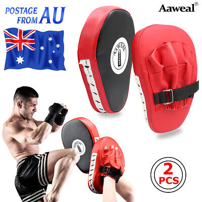Curved Focus Kick Pads Punching Target Martial MMA Boxing Mitts Training Gloves