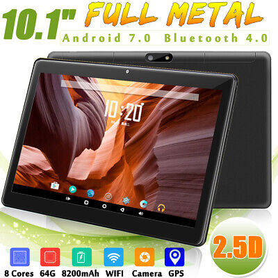 10.1'' Android 7.0 4G+64GB Tablet PC HD Camera WIFI bluetooth 2 SIM 2.5d/Studio