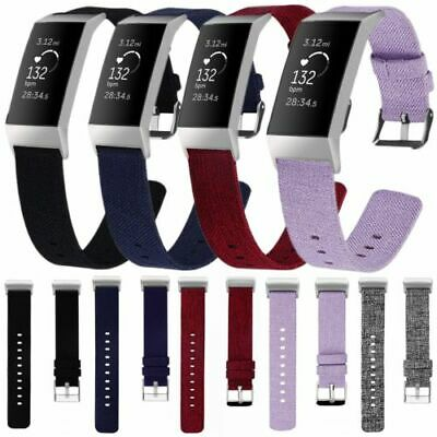 Replacement Nylon Fabric Strap Band for Fitbit Charge 3 Spare Woven Watchband