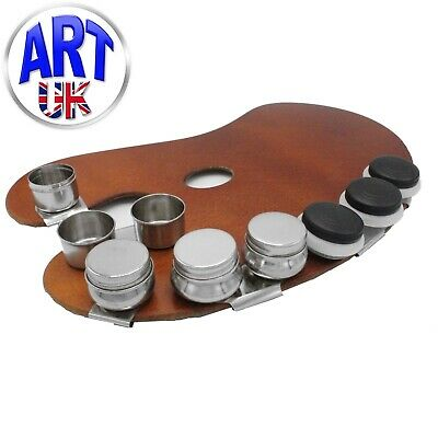 Loxley Artists Metal Single or Double DIPPER Palette Clip Painting Pot with Lid