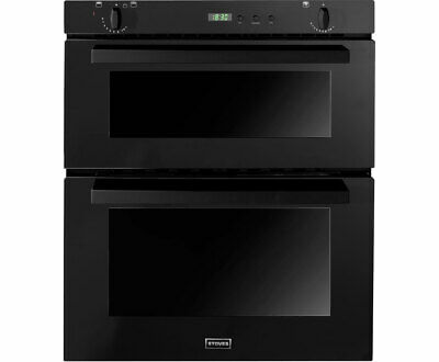 Stoves Sgb700ps Gas Built Under Double Oven Black P1077