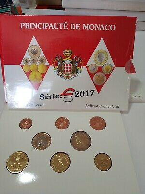 Monaco set 2017 kms solo 8000 ejemplares brilliant uncirculated serie 8 valores