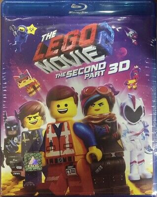The Lego Movie 2 The Second Part 3D - 2019 Movie 3D Bluray + Bluray 2 Disc Speci