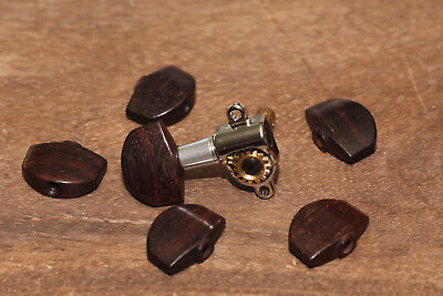 Tuner Buttons Madagascar Rosewood by Hailwood (6) fits PRS* Phase III Tuners