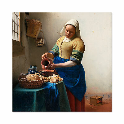 Johannes Vermeer Het Melkmeisje Wall Art Canvas Print 24X24 In