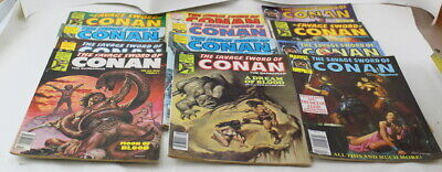The Savage Sword of Conan The Barbarian Marvel Comics Lot of 12