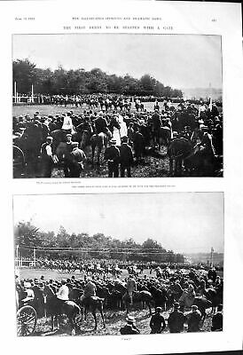 Old 1901 Derby Horse Racing Coventry Orchid Foxhall Kenne Cap Bells O Victorian
