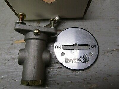 """Buyers 6451000 Toggle Air Valve 174psi 1/8"""" Ports W/ Faceplate"""