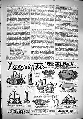 Antique Print 1900 Mappin Webb Prince'S Plate Royal Works Sheffield London 20th