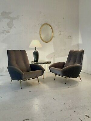 1950 GUY BESNARD  2  FAUTEUILS MODERNISTE FORME-LIBRE Arp Guariche