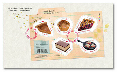 Canada 2019 Sweet Canada Desserts Souvenir Sheet First Day Cover