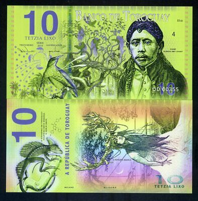 Toroguay, 10 Lixo, 2019, POLYMER, Limited Private Issue, UNC