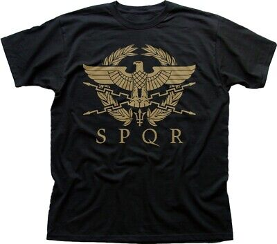 SPQR- ROMAN EMPIRE Metallic Gold Eagle- historical Men's T-Shirt