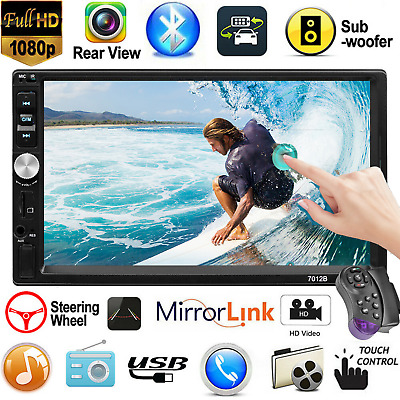 """2DIN 7"""" Car Stereo Radio MP5 Player AUX Android/IOS Mirror Link Touch Bluetooth"""