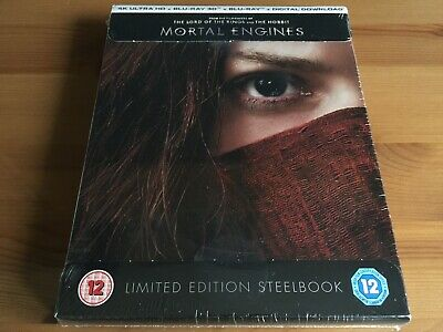 MORTAL ENGINES 2D/3D/4K Limited Edition Blu-Ray Steelbook *BRAND NEW & SEALED*