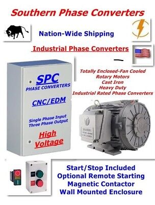 20 HP  CNC Rotary Phase Converter-- Digital TEFC Cast Iron Rotary Motor