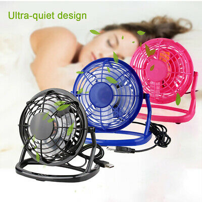 US 4 Inch Mini USB Desk Fan Portable Fan 360° Up and Down for Home Office New SP