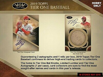2019 Topps Tier One Baseball 1 Hobby Box Break - Random Player