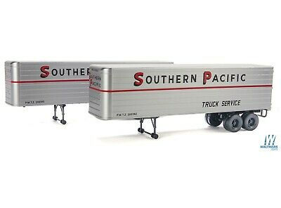 Southern Pacific 35' Trailer 2-pack HO - Walthers SceneMaster #949-2412 vmf121